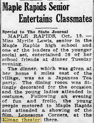Elmac Theater - 19 OCT 1923 ARTICLE